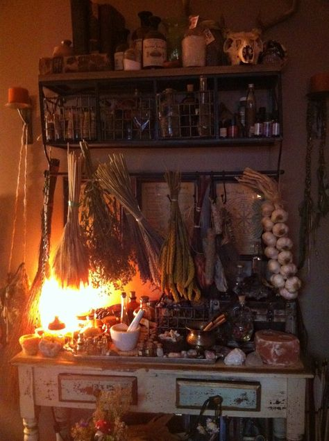 Glimpse into my elven realm~ alchemy,botany and magick table! Instagram: Lotherie