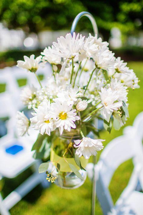 daisy ceremony decor