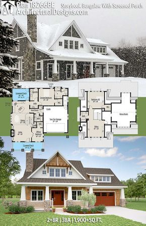 Plan 18266be Storybook Bungalow With Screened Porch Architectural Design House Plans Bungalow House Plans House Plans