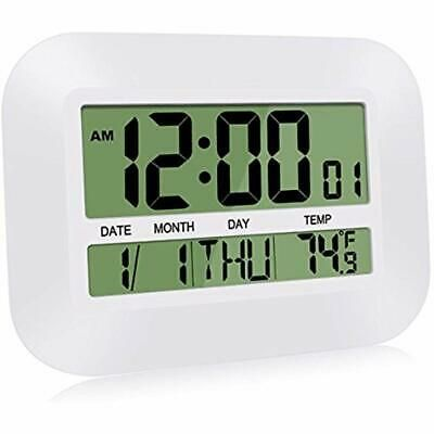 Silent Alarm Clocks Desk Clocks 12 Inch Digital Wall Simple Large Lcd Calendar Fashion Home Garden Homedcor Cloc With Images Wall Clock Simple Desk Clock Digital Wall