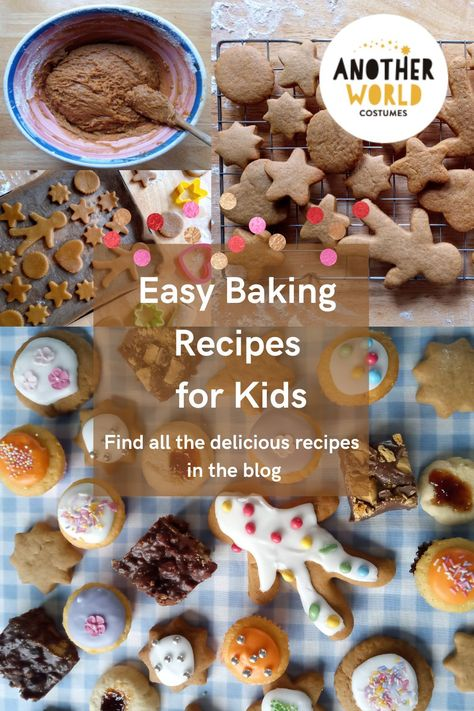This post has 5 great recipes which kids will enjoy helping to make. They don't take too long to bake in the oven and all the family will enjoy eating them! #kidsbaking #bakingwithkids #easybaking #bakingfun