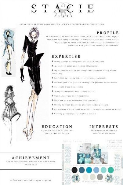 68 Super Ideas For Fashion Design Resume Ideas Cv Template
