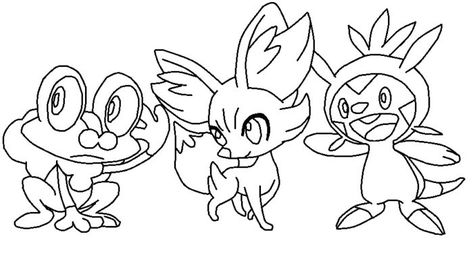 Kleurplaten Pokemon X Y.Pretty Coloring Pokemon Coloring Pages Fennekin New At