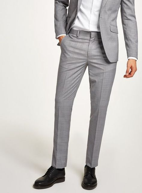 6bb6e793e3b Black And White With Lilac Check Skinny Suit Trousers - Men s Trousers -  Clothing - TOPMAN EUROPE