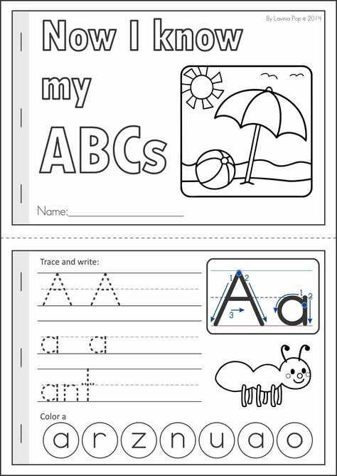 Kindergarten SUMMER Review Math & Literacy Worksheets & Activities. 104 pages. A page from the unit: Now I know my ABCs Summer handwriting practice booklet