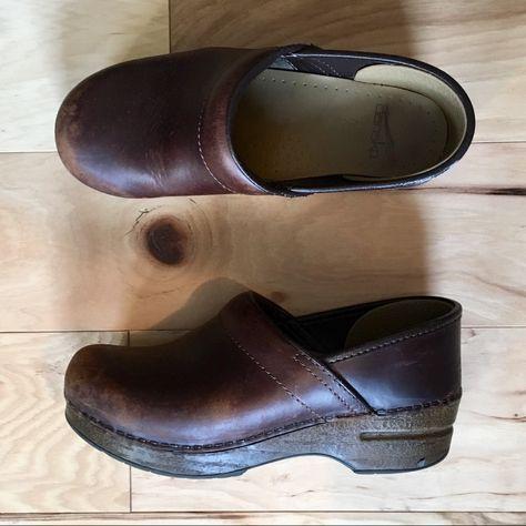 Dansko Professional Clogs Used   Brown