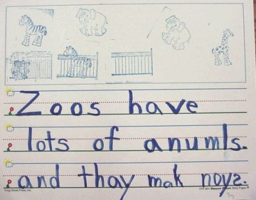 Zoo Theme writing prompt about what is at the zoo  | Zoo Theme Unit