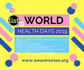 Health Day S 2019 List Was Enclosed To Health Day Celebration For Indian And World This Health Day Calendar 2019 List Of In World Health Day Health Day Health