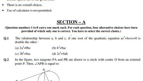 Cbse Sample Papers For Class  Sa Maths  Set C  Ncert Class