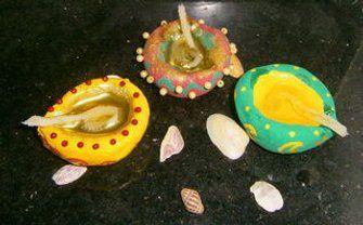 Handmade Decorative Diya Oil Lamps Handmade Decorations Oil Lamps Decor