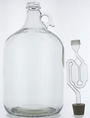 1 Gallon Glass Wine Fermenter Beer Making Rubber Stopper Airlock Brew Carboy New How To Make Beer Home Brewing Wine Recipes