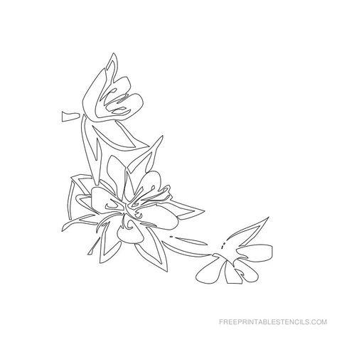 photo regarding Free Printable Flower Stencils called No cost Printable Floral Stencil B STENCIL No cost stencils