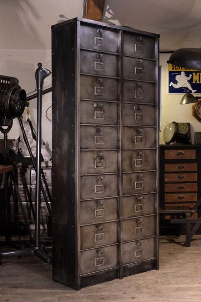 Meuble Industriel Ancien Strafor A Clapet Meuble De Metier Meubles Industriels Mobilier De Salon