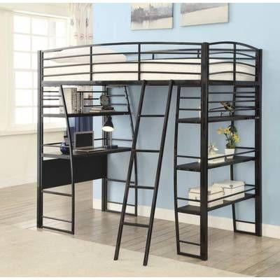 Viv Rae Lesa L Shaped Bunk Bed With Desk Wayfair Twin Loft Bed Loft Bed Coaster Furniture