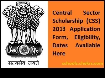 Central Sector Scholarship  Applynow  HttpsSchoolsChekrs