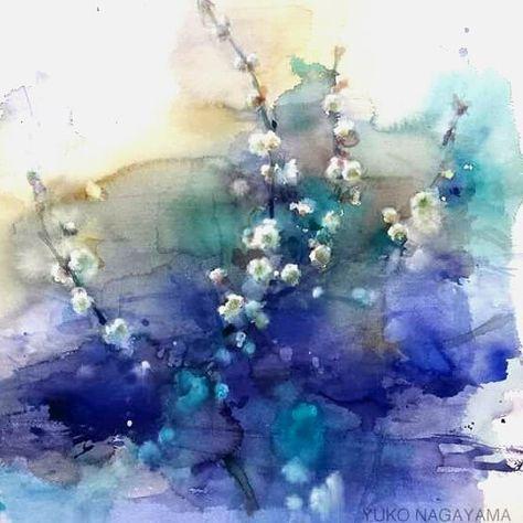 Yuko Nagayama Aquarelle Fleurs Art De La Peinture Aquarelle Et