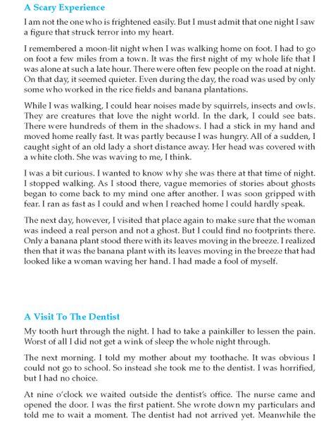 Grade 9 Narrative Essay