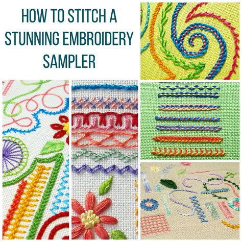 how to stitch an embroidery sampler