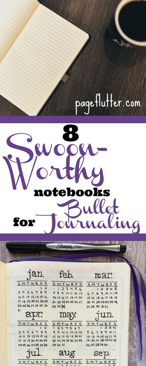 8 Swoon-Worthy Notebooks for Bullet Journaling | pageflutter.com | Your ultimate roundup of notebooks for bullet journaling, planning, and habit tracking