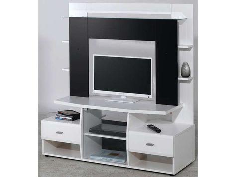 Meuble Tv Teneo Coloris Noir Et Blanc Vente De Meuble Tv Conforama Meuble Tv Meuble Tv Conforama Meuble