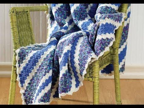 Crochet Corner-to-Corner Throw by Catherine Watson  Free Pattern: http://www.redheart.com/free-patterns/crochet-corner-corner-throw  Free Video Tutorial: http://www.youtube.com/watch?v=dymIOzc_aXY  #TheCrochetLounge #crochet #diagonal #diagonalbox #cornertocorner #tutorial