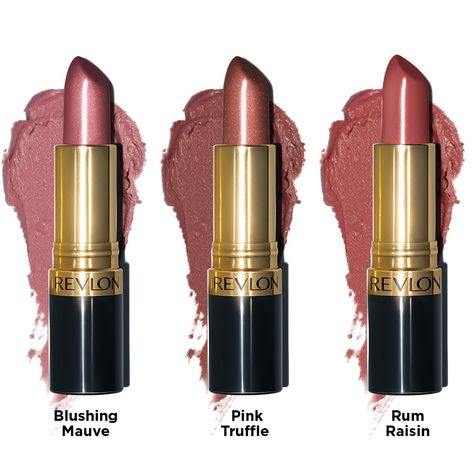 The Marvelous Super Lustrous Nude Lipstick Collection Pink Brown Lipstick, Mauve Lipstick, Best Lipstick Color, Best Lipsticks, Lipstick Colors, Lip Colors, Revlon Lipstick Shades, Revlon Lipstick Swatches, Pink Lips