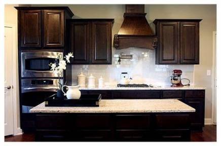 Best Kitchen Backsplash With Dark Cabinets Glass Wall Colors Ideas Dark Kitchen Cabinets Kitchen Cabinets And Backsplash Backsplash With Dark Cabinets