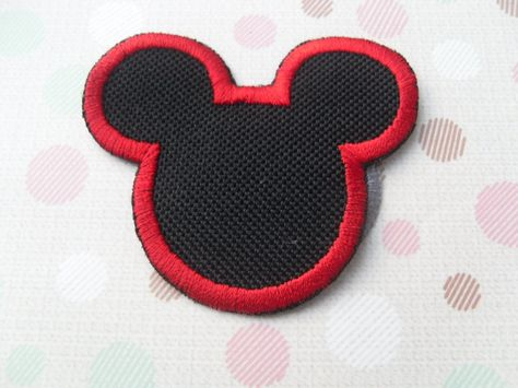Mickey mouse iron on patch silhouette patch small patch iron on