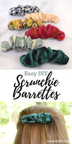 Easy Sewing Projects, Sewing Projects For Beginners, Sewing Hacks, Sewing Tutorials, Sewing Tips, Sewing Crafts, Hair Tutorials, Diy Projects, Diy Hair Scrunchies