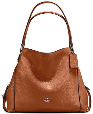 4f7375bf COACH Edie Shoulder Bag 31 in Polished Pebble Leather - Handbags ...
