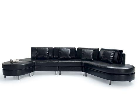 Big Sofa Schwarz Ledersofa Ledercouch Rindsleder Copenhagen