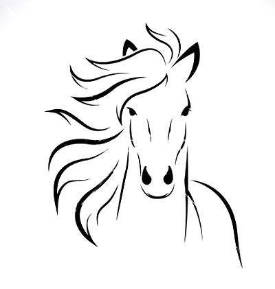 Horse Head Outline Tattoo Design Horse Outline Abstract Horse Horse Head Drawing