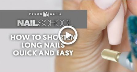 Yn Nail School How To Shorten Long Nails Quick And Easy Long Nails School Nails Nails