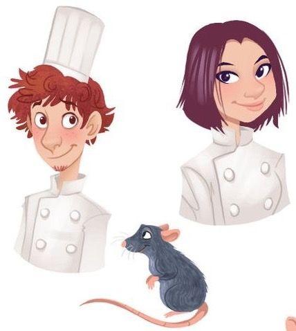 Linguini Remy Colette Ratatouille Disney Friends Disney Art Disney Princess Tiana