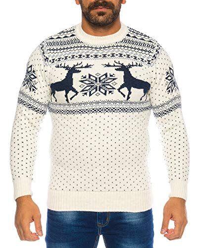 Weihnachtsessen Island.Rafftaff Herren Strickpullover Sweater Hoodie Wollpullover M Xxl
