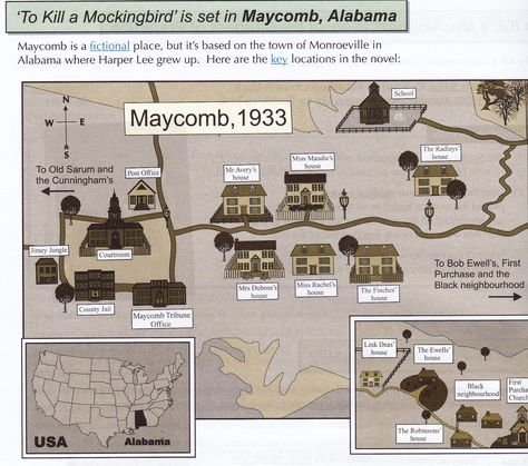 Map Of Maycomb Alabama Pictures | Map Of Maycomb Alabama Images ...