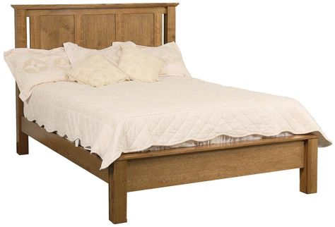Amish Elegance Queen Frame Bed With Low Footboard By Daniel S