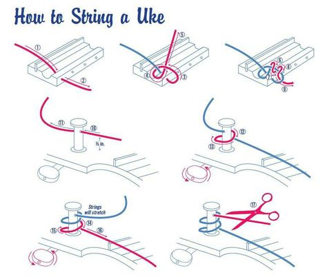 How to string a uke | Music ukulele | Pinterest