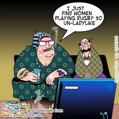 Women's Rugby funny cartoons from CartoonStock directory - the world's largest on-line collection of cartoons and comics.