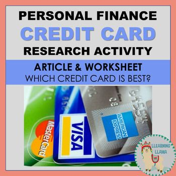 Personal Finance Credit Card Research Activity