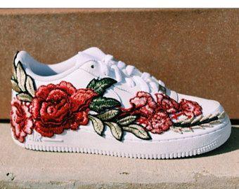 Nike Air Force 1 White Flower Embroidery Men S Women S Custom