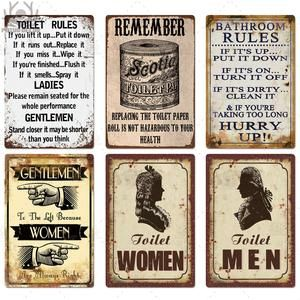 Bathroom Vintage Plaque Metal Signs Various Designs Gallery Wallrus Free Worldwide Shipping