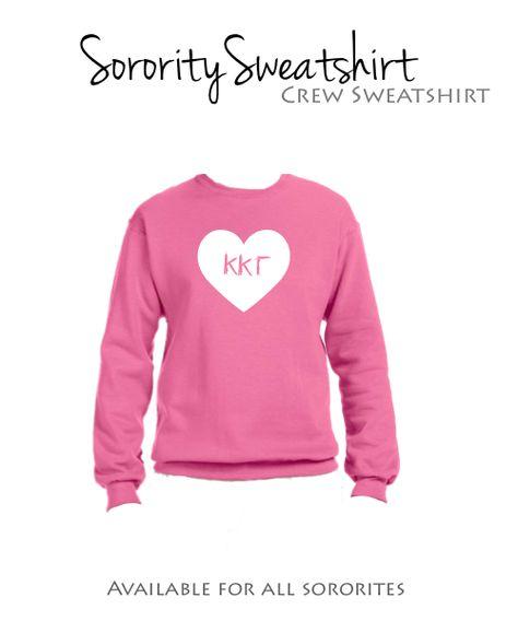Kappa Kappa Gamma Sweatshirt I Crew I Heart  $29.98
