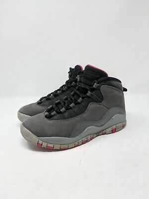 Nike Air Jordan 10 Retro GS RUSH PINK DARK SMOKE GREY BLACK 487211-006 Big Kid/'s