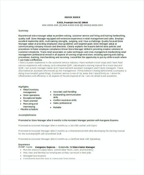 Store Sales Manager Resume 1 , Assistant Store Manager Resume - assistant store manager resume