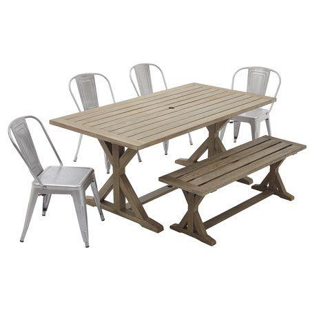 dd5a6caaf529ab2640cf060676b14cf0 - Better Homes & Gardens Camrose Farmhouse 6 Person Dining Table