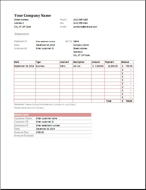 Company invoice template includes the name of your company - how to fill out an invoice