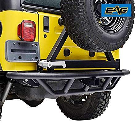 Amazon Com Eag Rear Bumper With Tire Carrier 2 Hitch Receiver