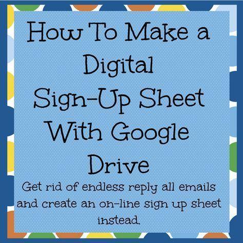 Create A Live Online Sign Up Sheet Online Sign Up Sheet Sign Up Sheets Digital Signs