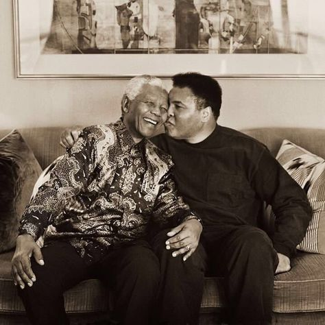Nelson Mandela and Muhammad Ali Nelson Mandela, Muhammad Ali, Float Like A Butterfly, Black History Facts, African Diaspora, African American History, Black Power, Black People, Black Is Beautiful